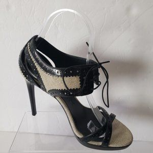 Burberry Size 37 US Size 7 Shoes Ankle Strap Lace